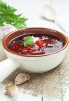 borsh plato tradicional ruso foto