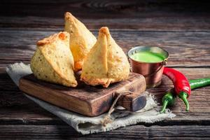 Yummy samosa with vegetables
