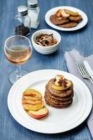 Liver pancakes with caramelized onions and apples
