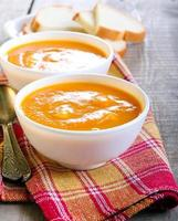 soup in bowls photo