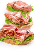 Canape with bacon