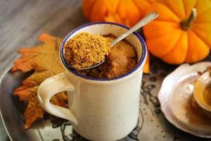 Pumpkin Spice Latte Microwave Mug Cake fall dessert