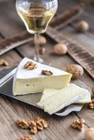 Brie cheese with nuts photo