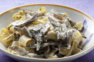 fresh Tagliatelle with cream and artichokes