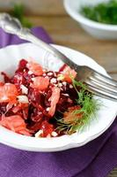 Salad with beets and greens photo