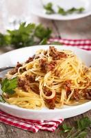 Pasta bolognese photo