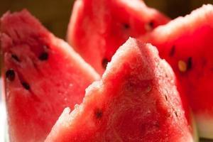watermeloen plakjes.