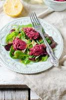 Beetroot salad with ruccola