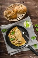 tortilla de huevo del país foto