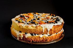 bolo de biscoito de verão