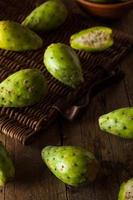 Raw Organic Green Cactus Pears photo