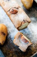 Cake with pears photo