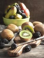 Fresh fruits and berries photo