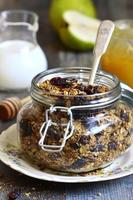 Granola from rye and oat flakes . photo