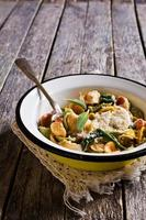 Orecchiette Pasta with garlic and sage photo