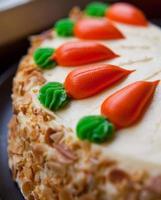 pastel de zanahoria foto