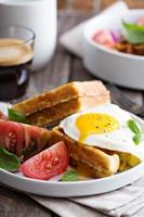 Chickpeas flour waffles with egg