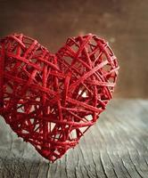 Valentines Day background with hearts. photo