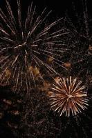 celebración de fuegos artificiales
