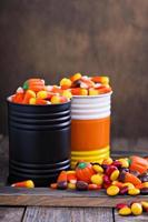 Halloween candy in small tins