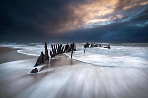 Wreckage in the storm photo