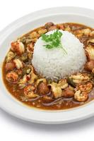 gumbo with crawfish, chicken & sausage photo