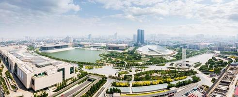 Panoramic skyline and modern buildings of tianjin photo