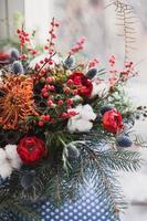 Colorful winter bouquet