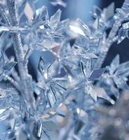 Winter background with ice crystals
