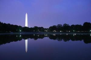 Monumento a Washington en el crepúsculo