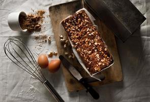 Banana loaf cake photo