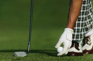 inicio del juego de golf foto