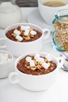 Chocolate banana oatmeal photo