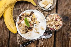 porção de iogurte de banana