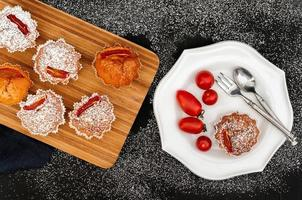 magdalenas de tomate y especias foto
