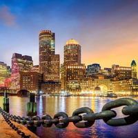 Boston Harbor en financiële wijk