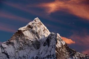 Sunset over Ama Dablam photo