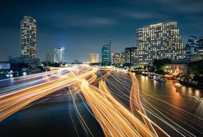 Boat traffic in Bangkok photo