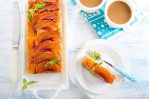 Peach upside down cake photo