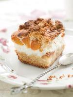 pastel de albaricoque foto