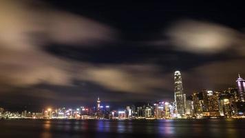 paisagem noturna de hong kong