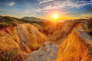 puesta de sol del cañón