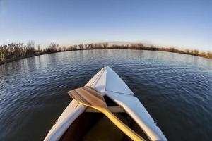 canoe bow and paddle photo