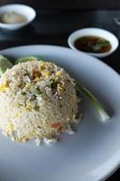 arroz frito con cangrejo foto
