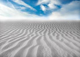 desierto de arena foto