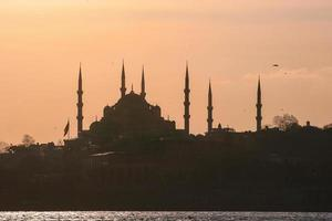 Silhouette of Istanbul, Turkey photo