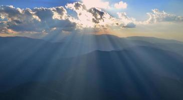 Mountain sunset photo