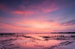 plages au coucher du soleil