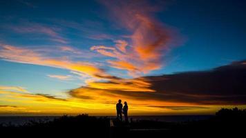 zonsondergang silhouet