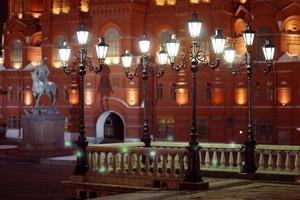 moscow night Historical Museum photo
